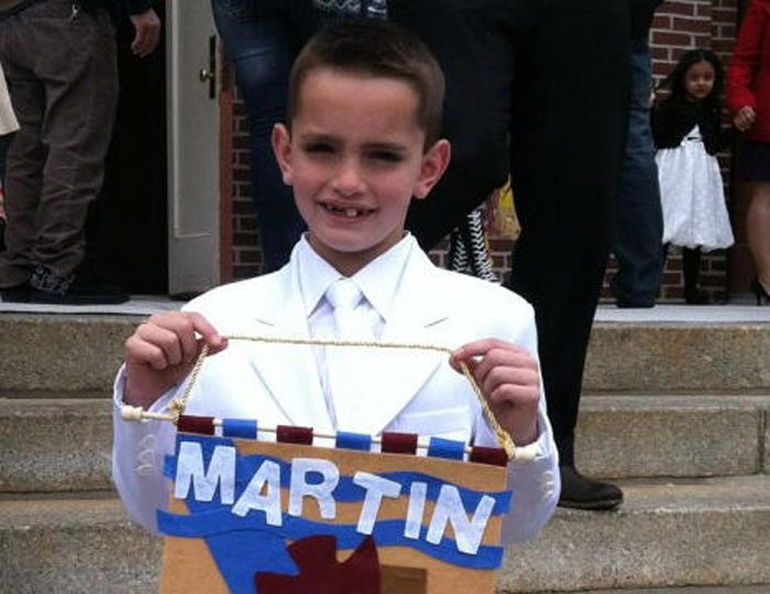 Martin Richard, 8, was killed in an explosion at the Boston Marathon on Monday, April 15, 2013. (Facebook)