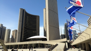 Toronto City Hall is shown. (Chris Kitching/CP24)
