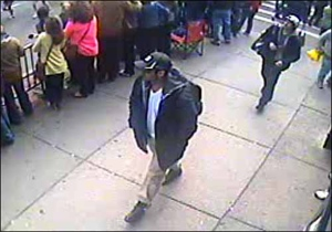 The FBI has released this photo of two men wanted in connection with the Boston Marathon bombing. (FBI Handout photo)