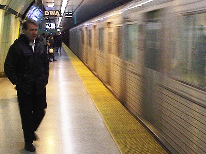 People wait to board a TTC subway train in this file photo. (CP24/Ken Enlow)
