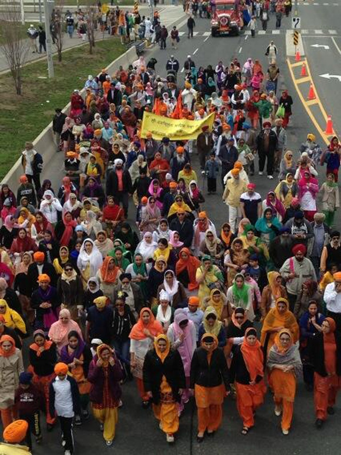 People participate in the Khalsa Day parade in Toronto on Sunday, April 28, 2013. (Naomi Parness/CTV)