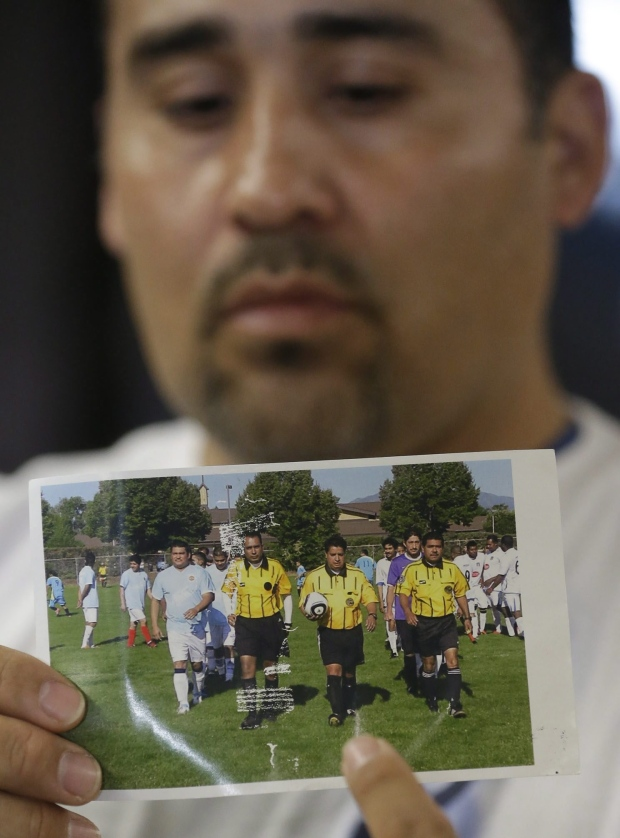 Soccer ref dies after player's punch puts him coma