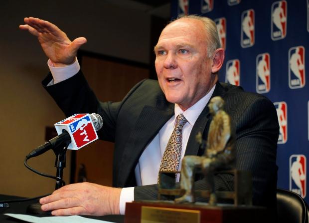 Denver Nuggets head coach George Karl