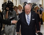 Senator Mike Duffy leaves a meeting of the Senate Internal Economy, Budgets and Administration committee on Parliament Hill in Ottawa, on Thursday, May 9, 2013. (Sean Kilpatrick / THE CANADIAN PRESS)