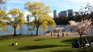 People are pictured enjoying the warm spring weather in High Park Tuesday May 7, 2013. (Joshua Freeman/CP24)