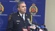Hamilton police Chief Glenn De Caire Tim Bosma