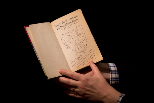 'Harry Potter' book with author's notes auction