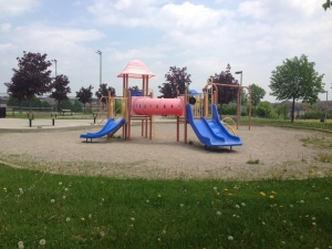 Playground equipment is pictured at Vaughan Mills Park on Monday, May 20, 2013, after an attempted child abduction was reported. (Tom Podolec/CTV)