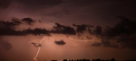 Lightning strikes late in the evening near London, Ont., in this file photo. (CP PHOTO/Dave Chidley)