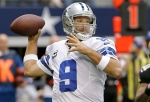 In this Dec. 23, 2012 file photo, Dallas Cowboys quarterback Tony Romo passes the ball against the New Orleans Saints during an NFL game in Arlington, Texas. (AP Photo/Brandon Wade, File)