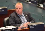 Toronto Mayor Rob Ford sits during a city council meeting at City Hall on Tuesday, May 21, 2013. (The Canadian Press/Nathan Denette)