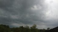 Storm clouds roll through Orangeville during a severe thunderstorm Tuesday, May 21, 2013. (@redd_ddiva/Twitter)