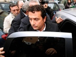 Captian Francesco Schettino gets into a car following a closed-door hearing in Torre Annunziata's courthouse, near Naples, Italy, Wednesday, Jan. 30, 2013. (AP Photo/Genny Manzo, Lapresse)