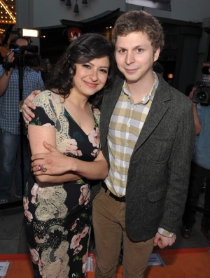 "Alia Shawkat, left, and Michael Cera attend the season four premiere of ""Arrested Development"" at the TCL Chinese Theatre in Los Angeles on Monday, April 29, 2013. (Photo by John Shearer/Invision/AP)"