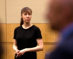 Jodi Arias stands as the jury enters the courtroom on Wednesday, May 22, 2013 during the penalty phase of her murder trial at Maricopa County Superior Court in Phoenix. (AP Photo/The Arizona Republic, Rob Schumacher, Pool)