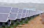 Solar panels are seen at the NRG Solar and Eurus Energy America Corp.'s 45-megawatt solar farm in Avenal, Calif in this Tuesday, Aug. 3, 2011 file photo.  (The Sentinel / Apolinar Fonseca)