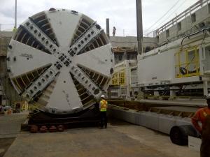 Eglinton Crosstown tunnel boring machine