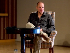 Hollywood actor Woody Harrelson is pictured during an interview in Toronto on Monday, March 28, 2011, as he discusses his new play 'Bullet for Adolf' which he has co-written and will direct. (THE CANADIAN PRESS/Chris Young)