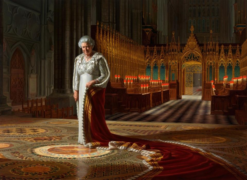 Queen Elizabeth portrait defaced