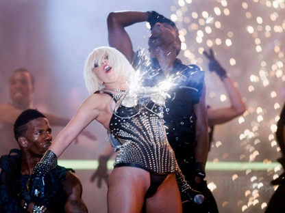 Lady Gaga peforms at the MuchMusic Video Awards in Toronto, Sunday June 21, 2009. (THE CANADIAN PRESS/Nathan Denette)
