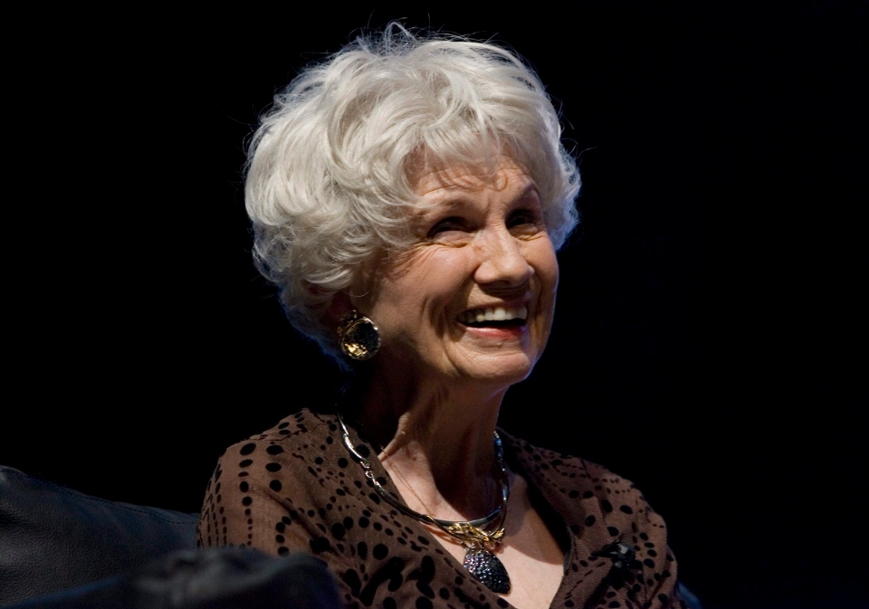 Writer Alice Munro attends the opening night of the International Festival of Authors in Toronto on Wednesday, Oct. 21, 2009. (The Canadian Press/Chris Young)