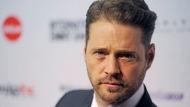 Jason Priestley arrives for the International Emmy Awards, on Monday, Nov. 21, 2011, in New York. (AP Photo/Henny Ray Abrams)