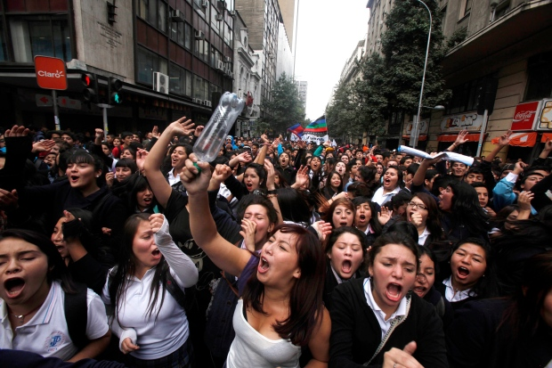 chile, students, election