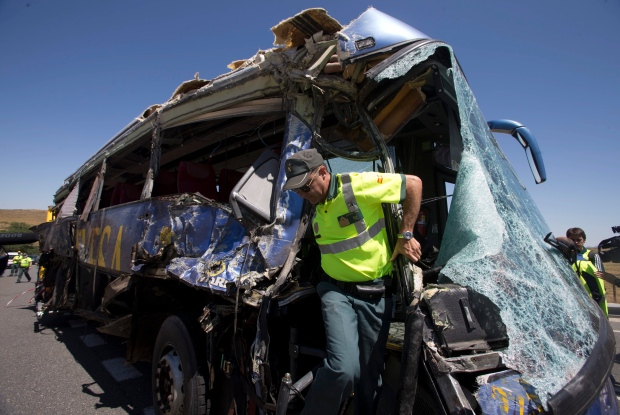 Bus accident in Spain