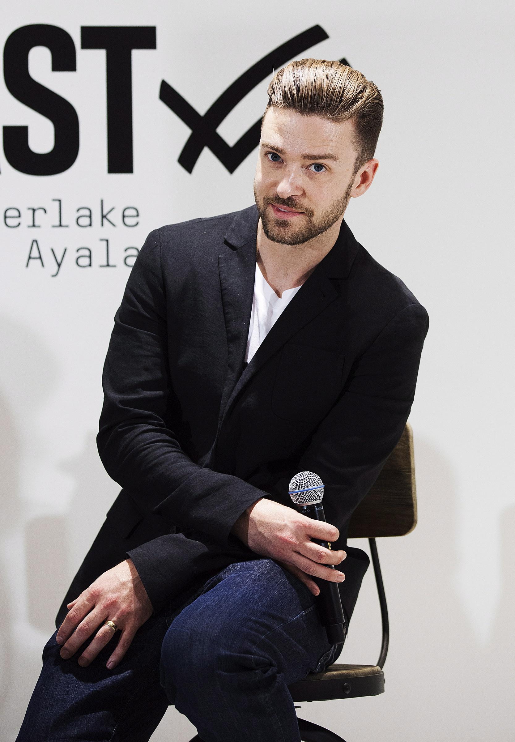 Justin Timberlake promotes the Justin Timberlake