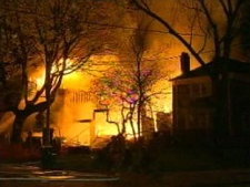 A house under construction on St. Clements Avenue was destroyed in an early-morning fire Thursday, May 5, 2011.