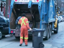 City crews collect garbage in this file photo. (CTV)