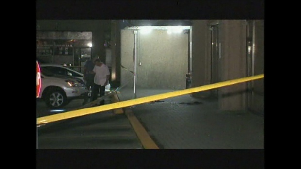 A man was stabbed near Sheppard Avenue East and Kennedy Road early Saturday, Aug. 3, 2013.