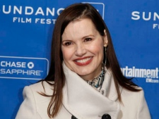 "Actress Geena Davis poses at the premiere of ""Miss Representation"" during the 2011 Sundance Film Festival in Park City, Utah on Saturday, Jan. 22, 2011. (AP Photo/Danny Moloshok)"