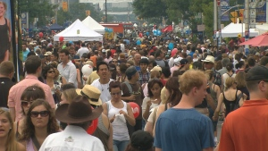 People attend Taste of the Danforth in this file photo.