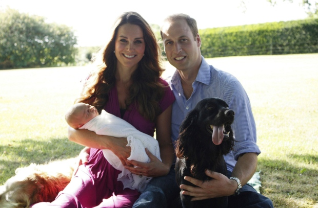 Prince William, Kate, Prince George portrait