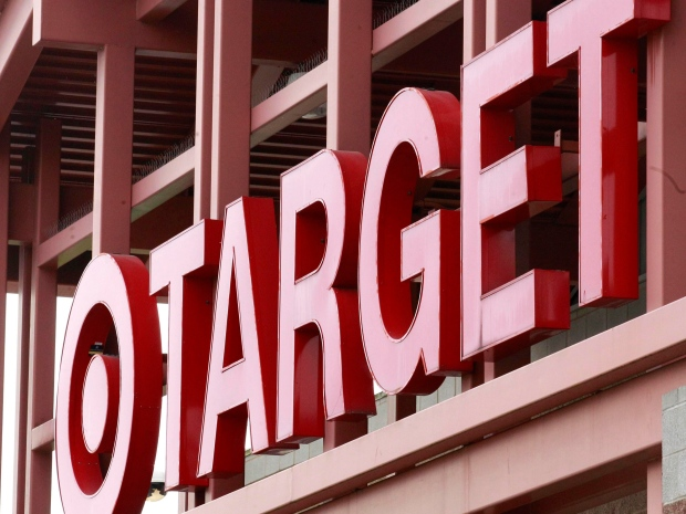 A Target sign is shown on the front of a Target Store Tuesday, May 17, 2011, in Wilsonville, Ore. (AP Photo/Rick Bowmer)