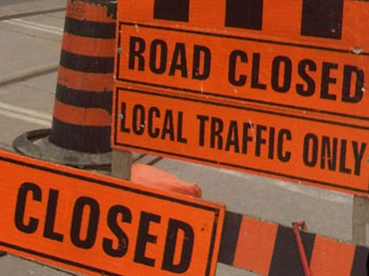 cp24 stock road closed