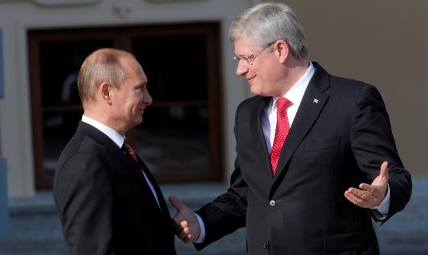 Stephen Harper, Vladimir Putin G20 summit meeting