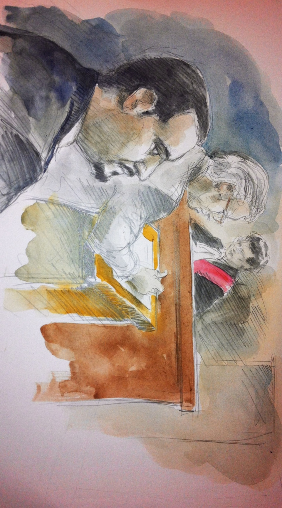 Babak Andalib-Goortani, left, appears in court June 3, 2013, in this court sketch. (Pam Davies/CTV)