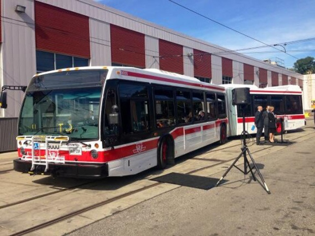 TTC unveils new articulated buses
