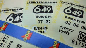 Lotto 649 tickets are shown in Toronto in a recent photo.  THE CANADIAN PRESS/Richard Plume