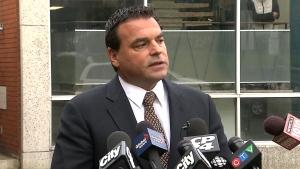 Councillor Giorgio Mammoliti speaks to reporters in Toronto, Monday, Oct. 21, 2013.