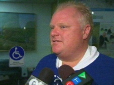 Toronto Mayor Rob Ford speaks to the media at city hall on Monday, June 27, 2011.