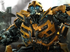 """In this publicity image released by Paramount Pictures, Bumblebee is shown in a scene from """"Transformers: Dark of the Moon."""" (AP Photo/Paramount Pictures)"""