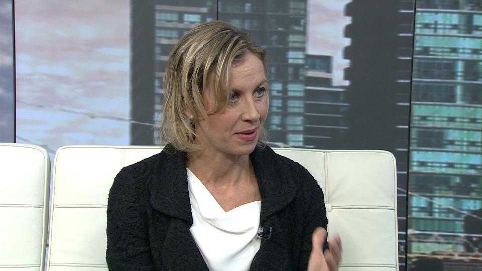 Coun. Karen Stintz speaks to CP24 about her 2014 mayoral bid on Monday, Oct. 28, 2013.