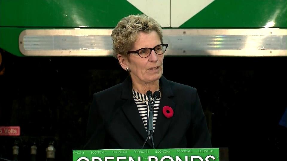Premier Kathleen Wynne makes an announcement Wednesday, Oct. 30, 2013.