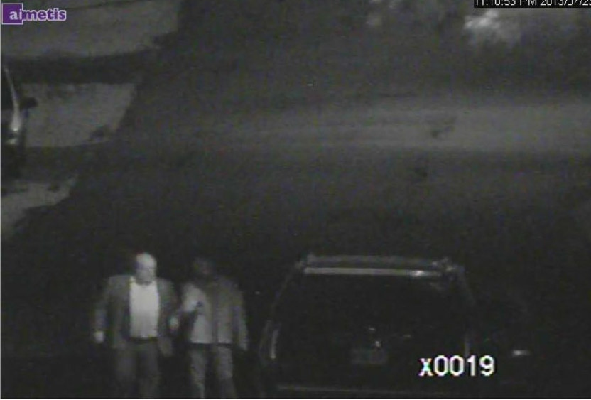 This police surveillance video contained within a court document shows a meeting involving Mayor Rob Ford and Alexander Lisi on July 23, 2013. (Handout)