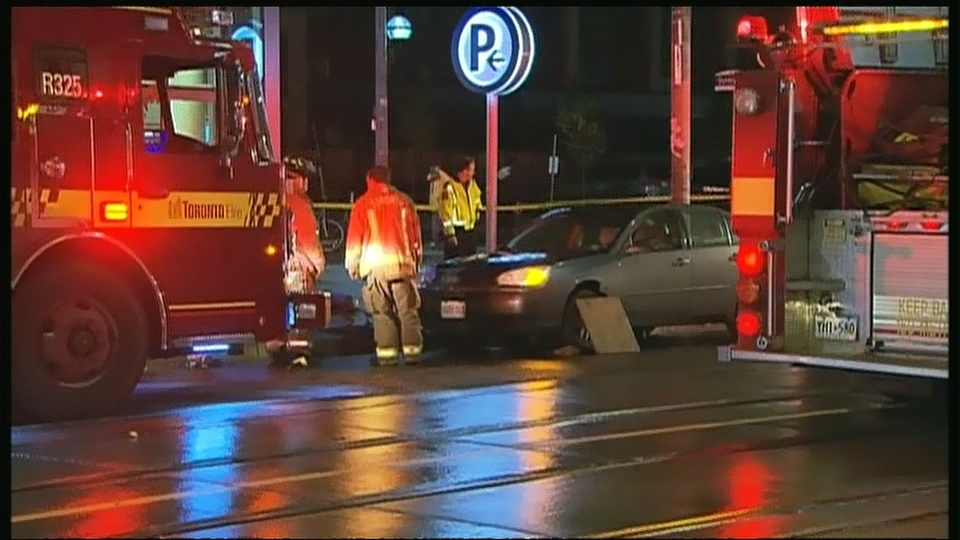 A male pedestrian was killed in a collision on Dundas Street East, near Parliament Street, early Friday, Nov. 1, 2013.