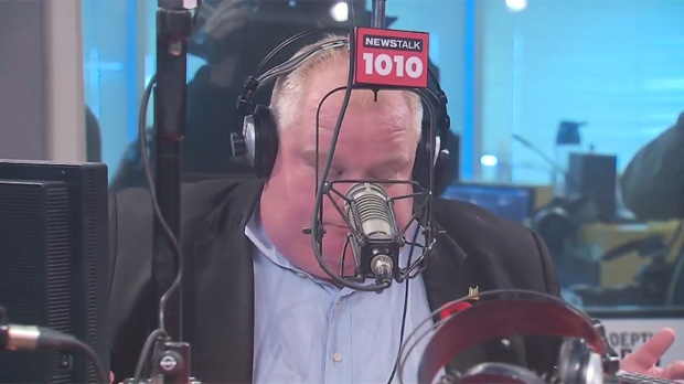 Mayor Rob Ford apologizes to Toronto for his mistakes on his radio show on Newstalk 1010 Sunday November 3, 2013.