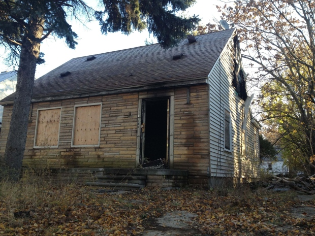 Fire burns down Eminem's childhood home